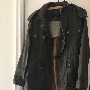 J. Crew Olive Green Rain Coat